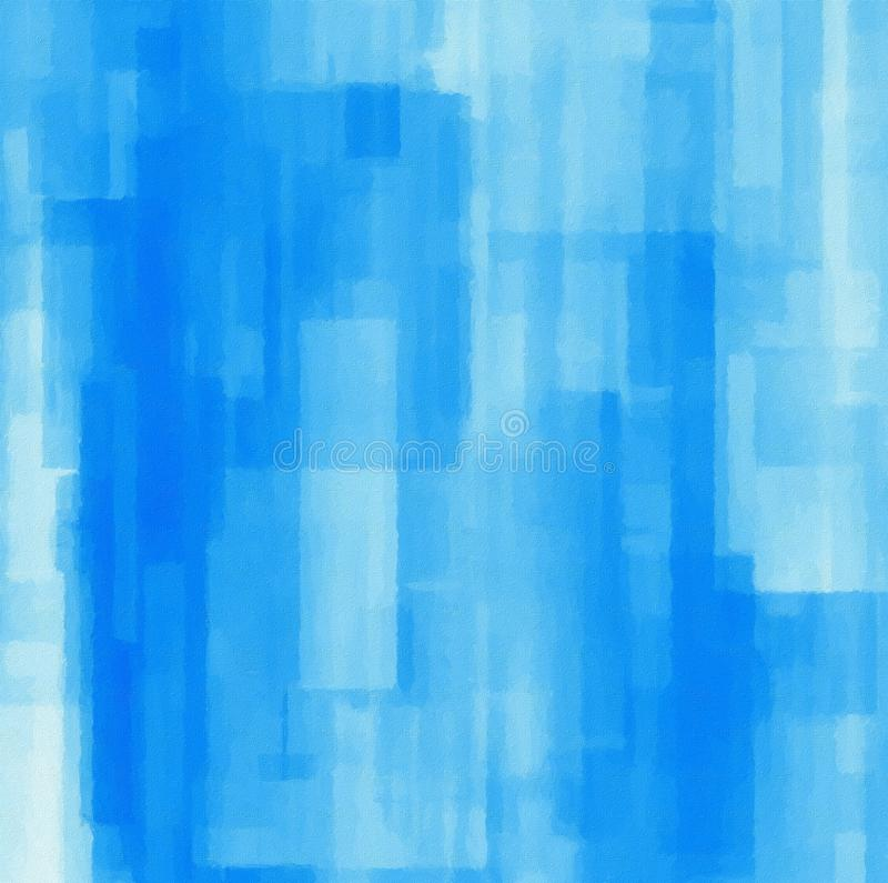 与几何对象的抽象背景 在蓝色的数字式绘画 皇族释放例证