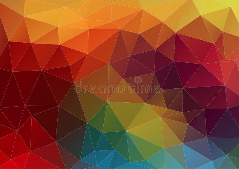 与几何形状的抽象构成 库存例证