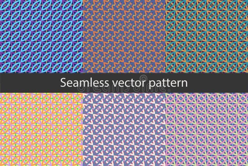 与几何形状的样式14无缝的传染媒介样式 皇族释放例证
