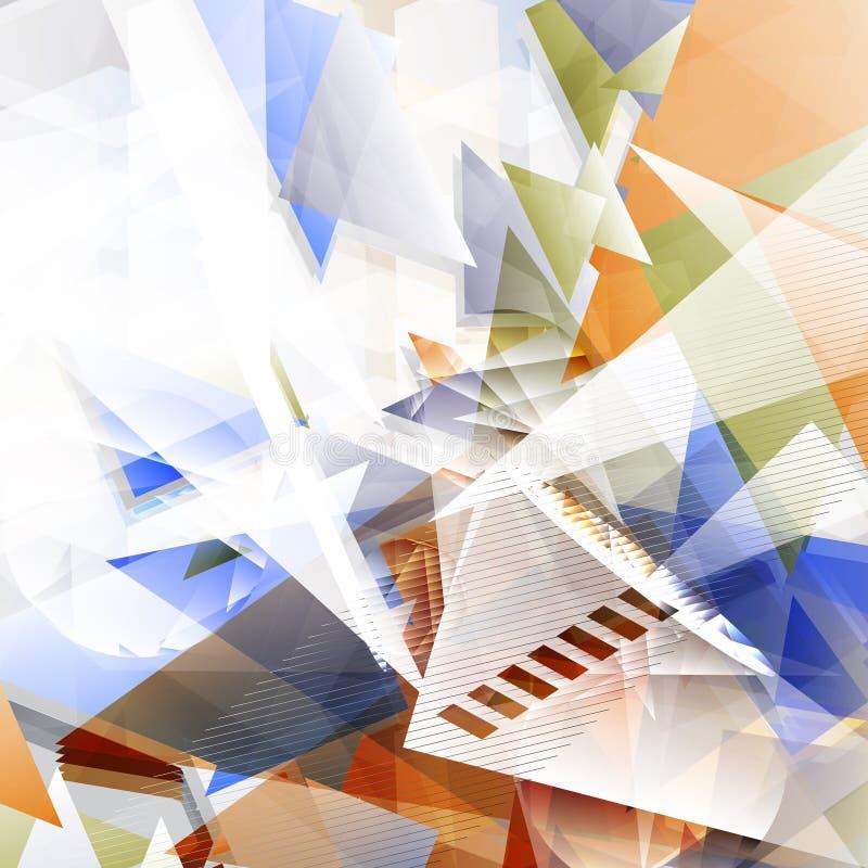 与几何形状的难看的东西未来派抽象背景 Mo 向量例证