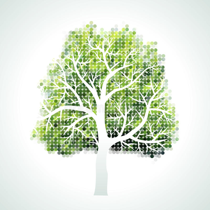 与分行和叶子的结构树 向量例证