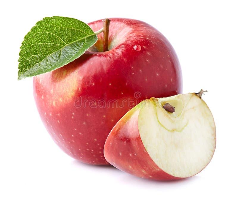 与切片的新鲜的苹果 免版税库存图片