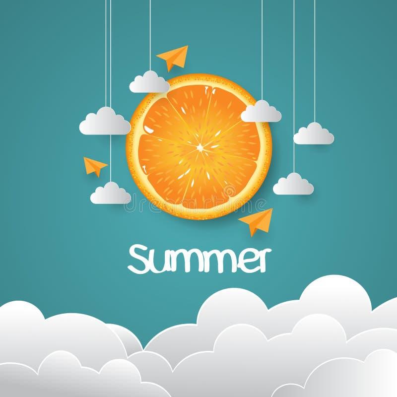 与创造性的设计的夏日背景 免版税库存照片