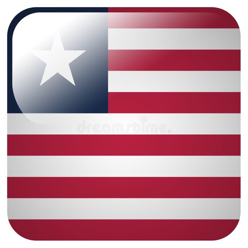 与利比里亚的旗子的光滑的象 皇族释放例证