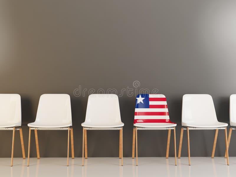 与利比里亚的旗子的椅子 皇族释放例证