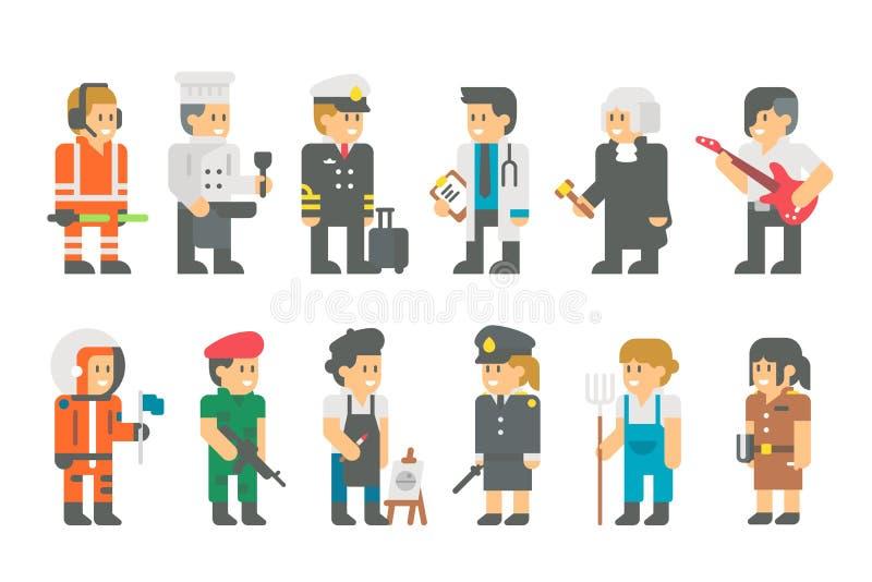 与制服平的动画片设计的孩子 皇族释放例证