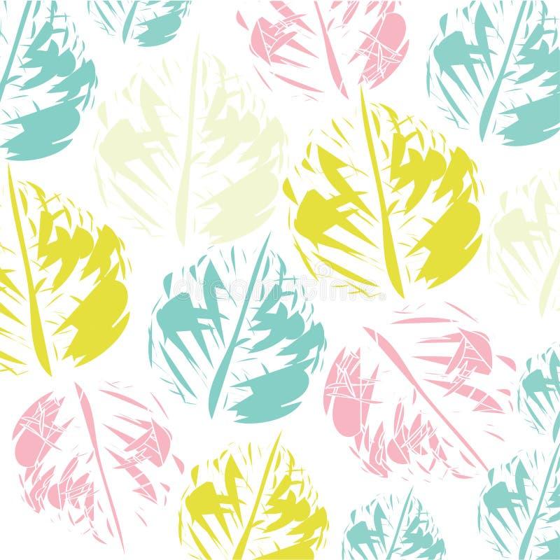 与刷子冲程的时髦无缝的样式 desing的五颜六色的纹理 皇族释放例证
