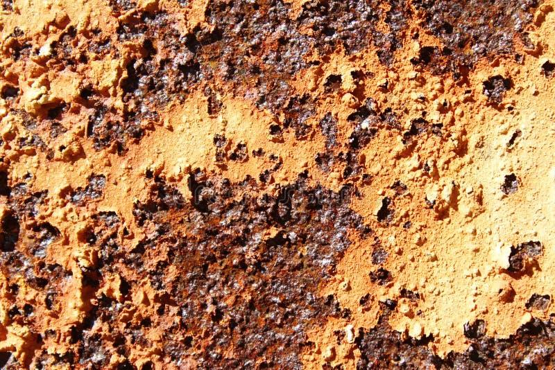 与削皮油漆的生锈的金属 库存照片
