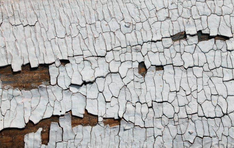与削皮油漆,与破裂的油漆,葡萄酒木背景,难看的东西板条的老蓝色板的老木纹理 老木 免版税库存图片