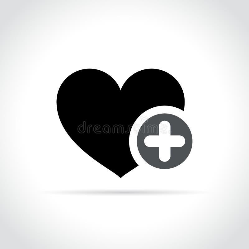 与加号象的心脏 向量例证