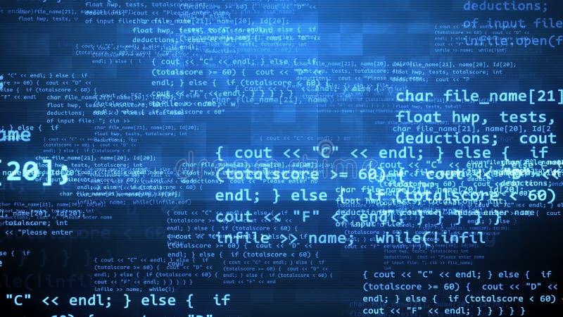 与加密标志的编制程序节目 库存例证