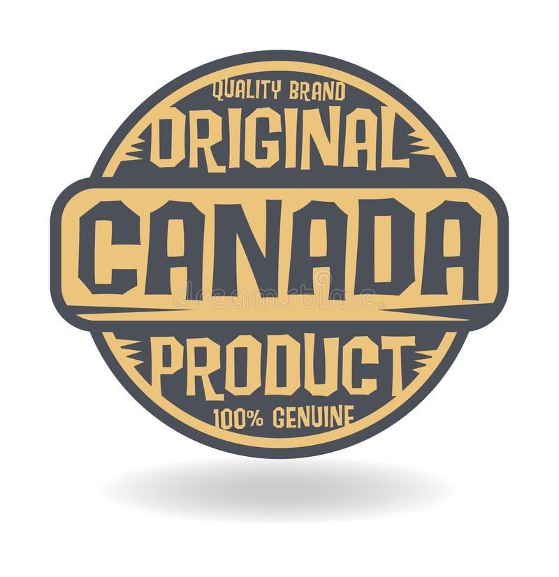 与加拿大的文本原始的产品的抽象邮票 皇族释放例证