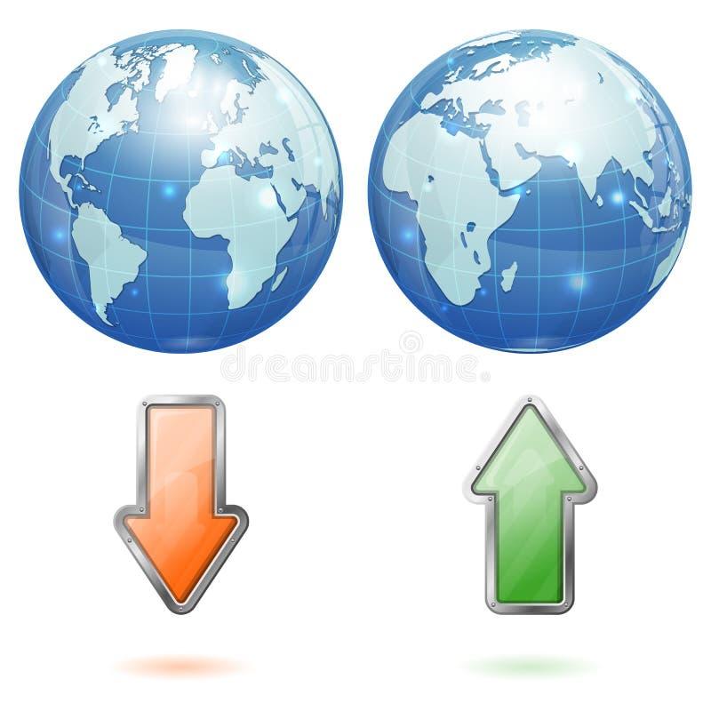 全球性加载和下载概念 皇族释放例证