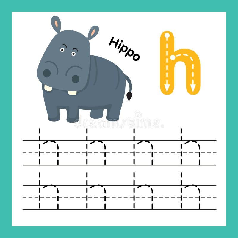 与动画片词汇量的字母表H锻炼 皇族释放例证