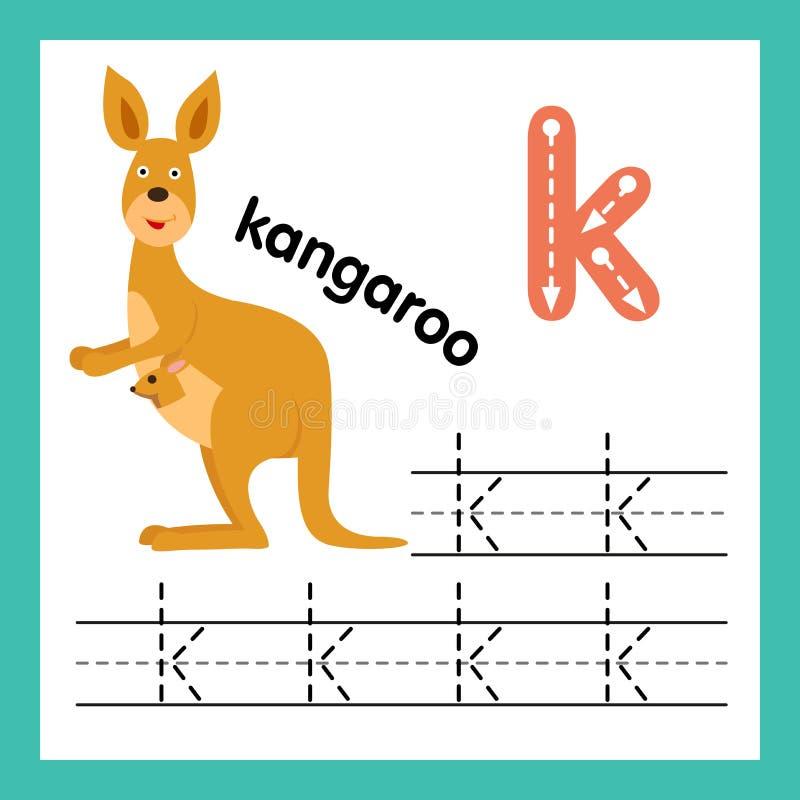 与动画片词汇量的字母表K锻炼 皇族释放例证
