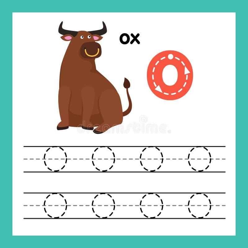 与动画片词汇量的字母表O锻炼 皇族释放例证