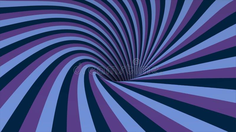 与动画转动的螺旋的抽象背景 抽象打旋的五颜六色的漏斗 转动的彩虹漩涡 皇族释放例证