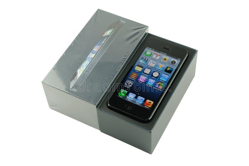 与包装的IPhone 5 图库摄影