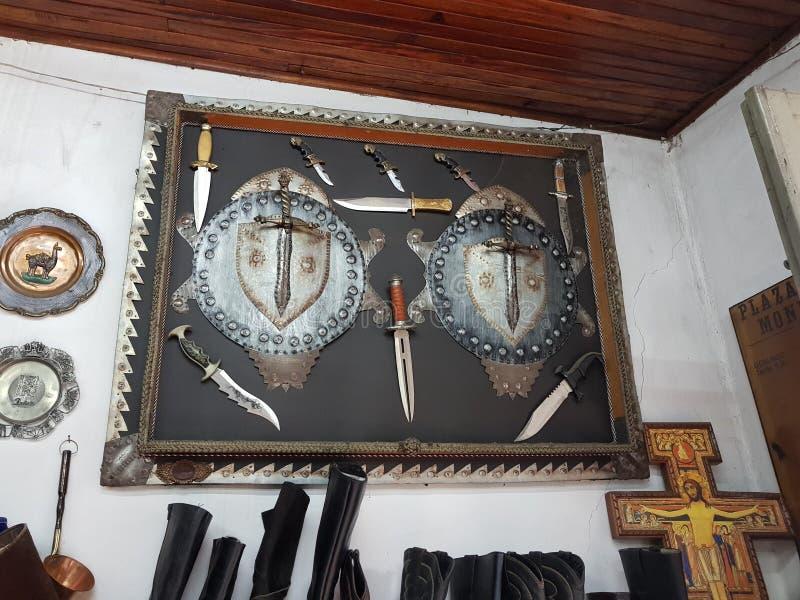 与匕首的艺术品 免版税库存照片