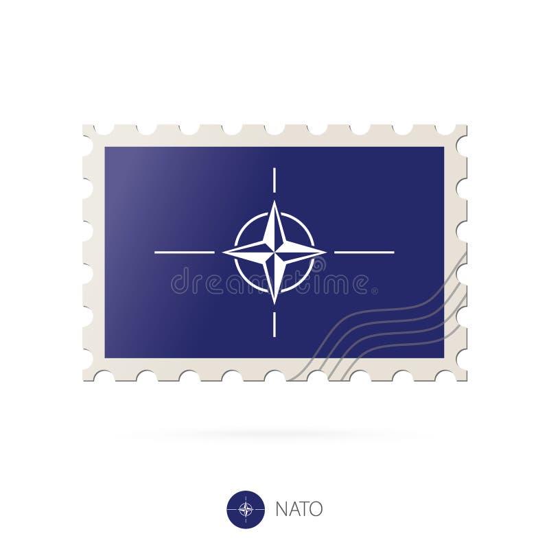 与北约旗子的图象的邮票 向量例证