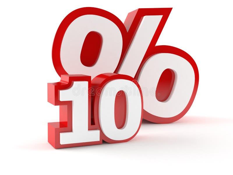 与十数字的百分之标志 库存例证