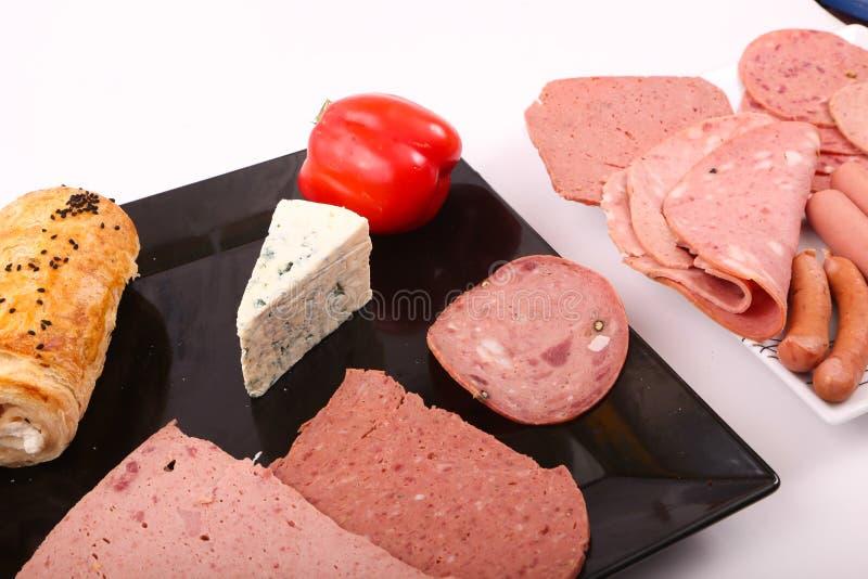 与午餐膳食的青纹干酪 免版税库存图片