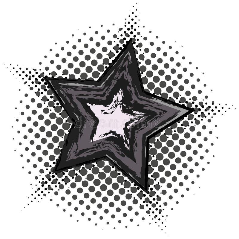 与半音样式的难看的东西星 向量例证