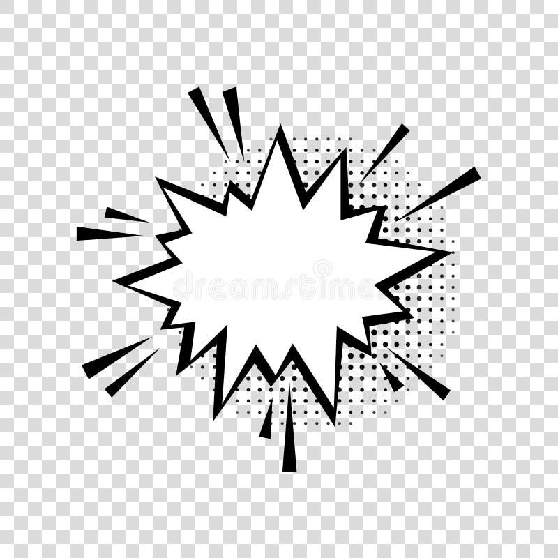 与半音阴影的讲话泡影在动画片,可笑的样式 向量例证