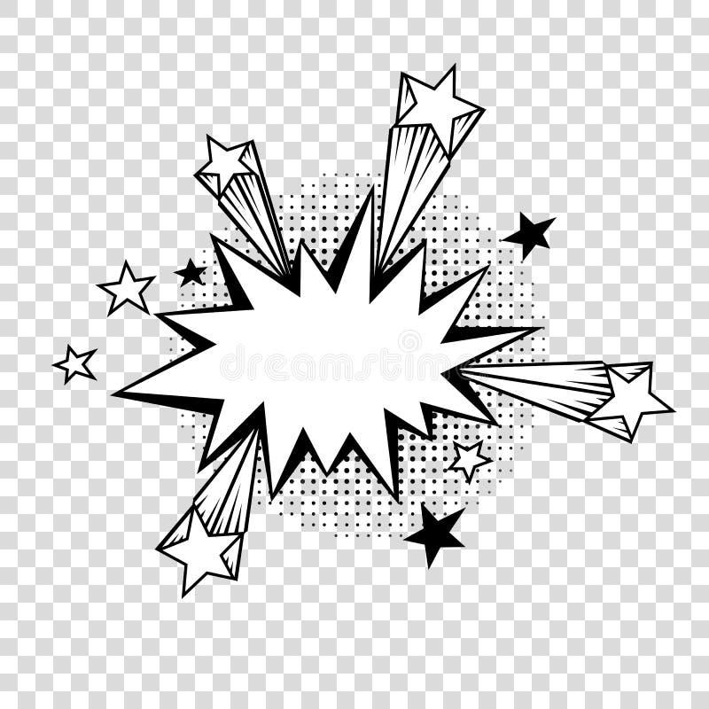 与半音阴影的讲话泡影在动画片,可笑的样式 皇族释放例证