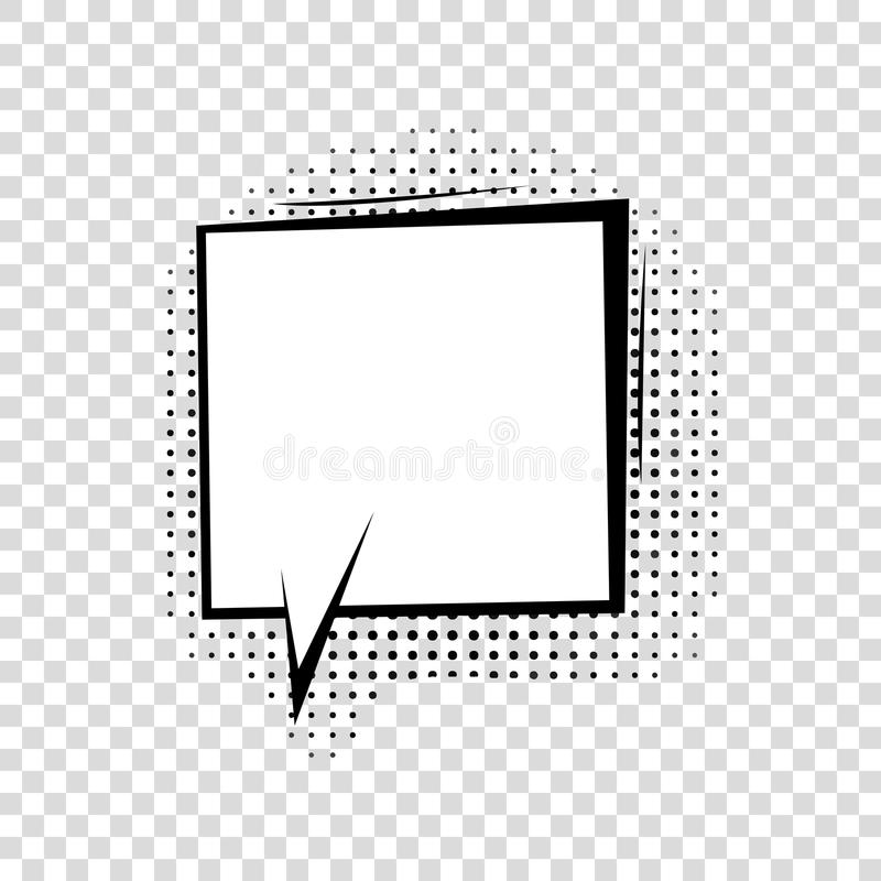 与半音阴影的讲话泡影在动画片,可笑的样式 库存例证