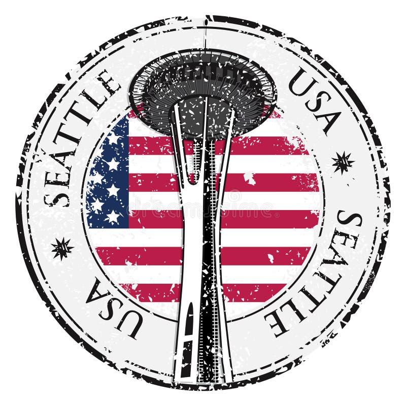 与华盛顿,西雅图,传染媒介的名字的难看的东西不加考虑表赞同的人 库存例证