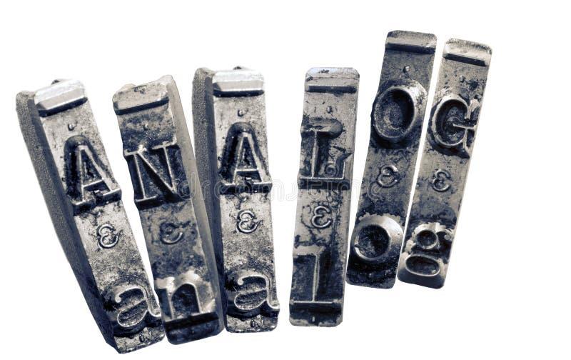 与单色老typwriter的钥匙的词类似物我 免版税库存照片