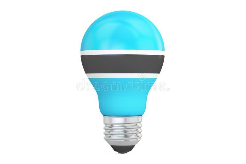 与博茨瓦纳旗子, 3D的电灯泡翻译 皇族释放例证