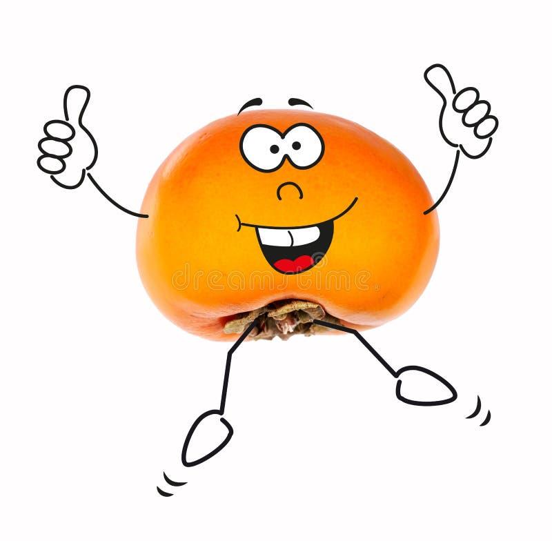 与卡通人物的柿子 图库摄影