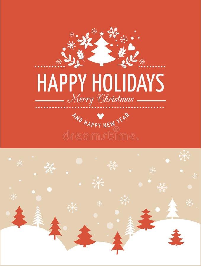 与印刷术的红色圣诞节背景,在上写字 库存例证