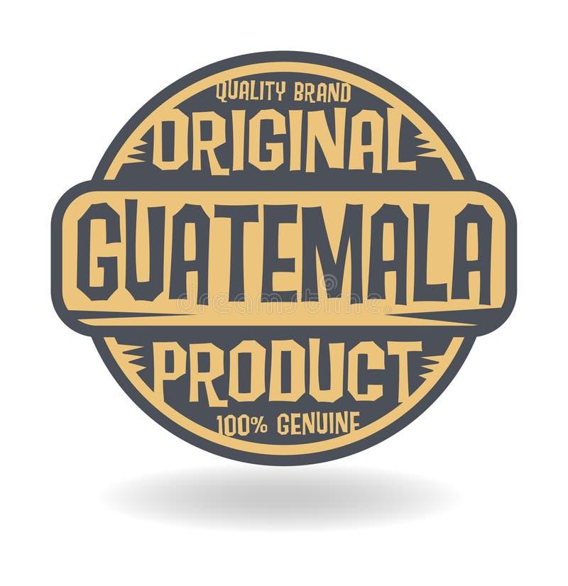 与危地马拉的文本原始的产品的抽象邮票 皇族释放例证