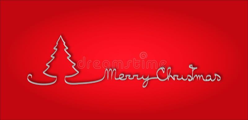 与压印的文本圣诞快乐的圣诞节背景 库存例证
