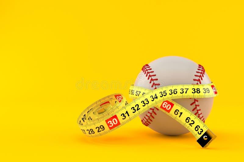与厘米的棒球球 皇族释放例证