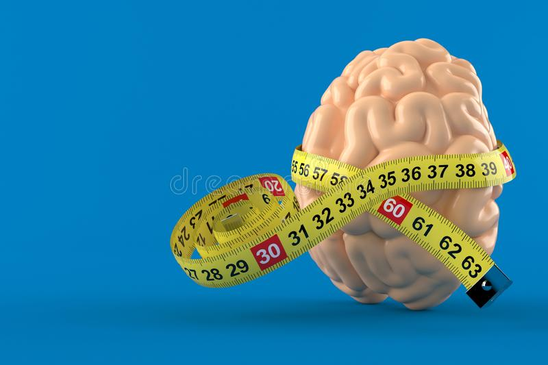 与厘米的脑子 库存例证