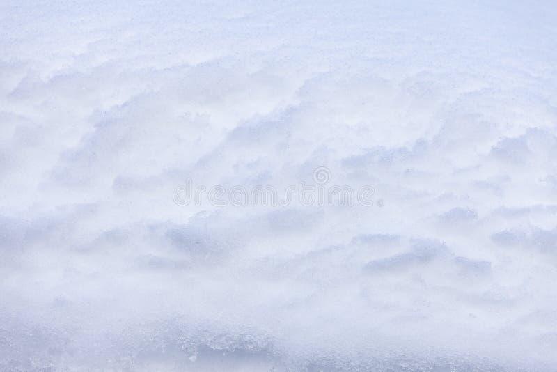 与原封的雪的自然雪背景 免版税库存图片