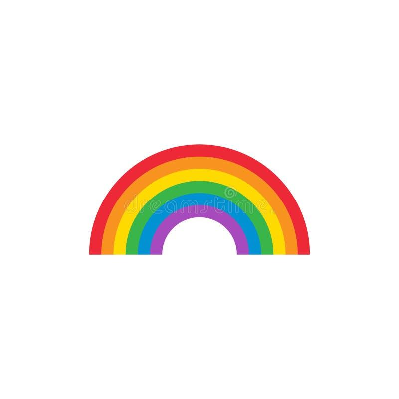 与原色光谱的彩虹曲拱五颜六色的传染媒介象 库存例证