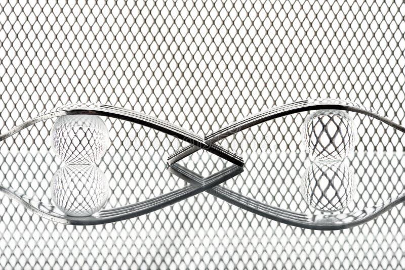 与叉子的概念在幻想背景XV 免版税图库摄影