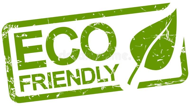 与友好的文本ECO的绿色邮票 皇族释放例证