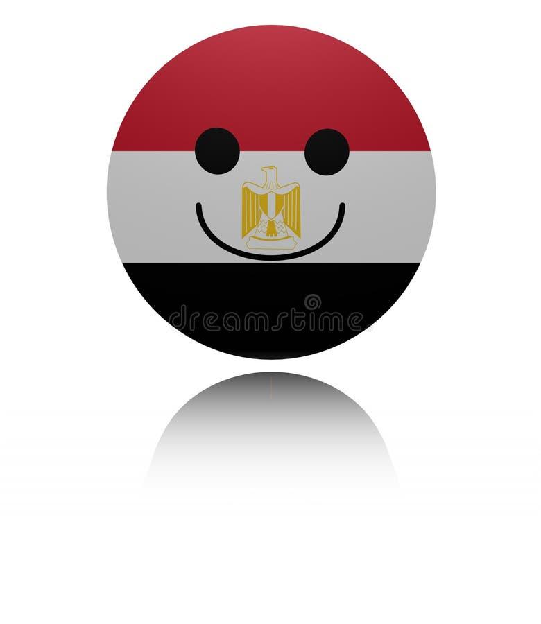 与反射例证的埃及愉快的象 库存例证