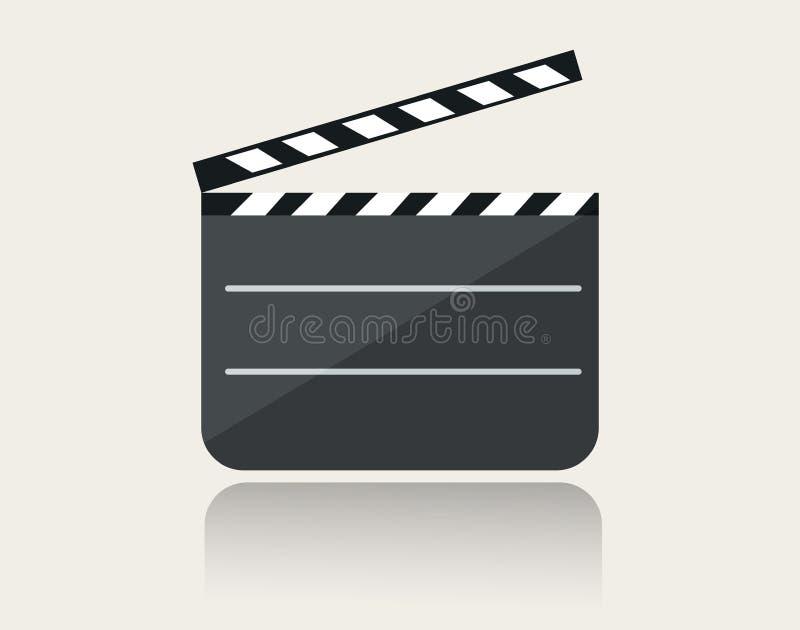 与反射的现代电影拍板象在地面 皇族释放例证