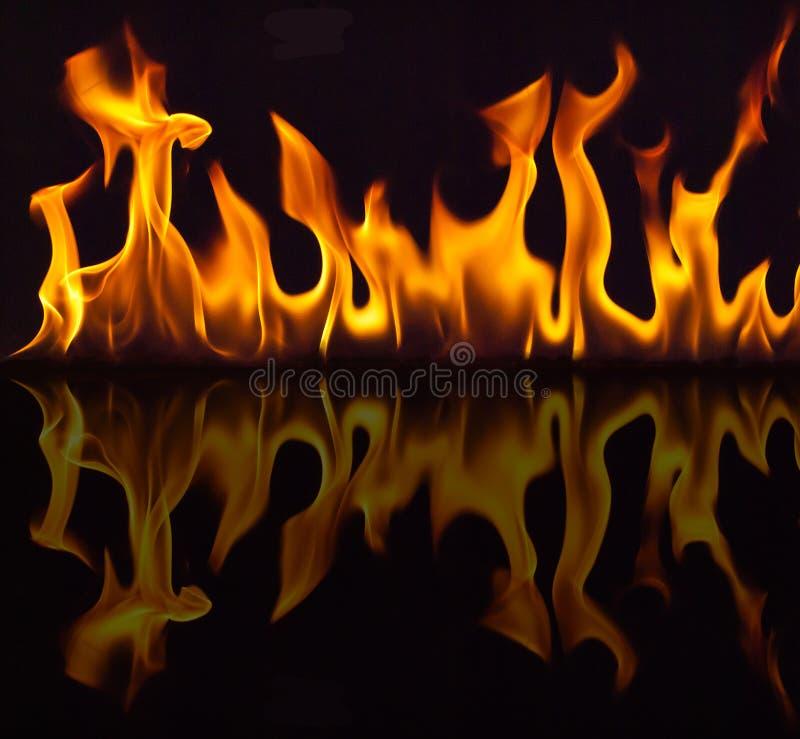 与反映的火 向量例证