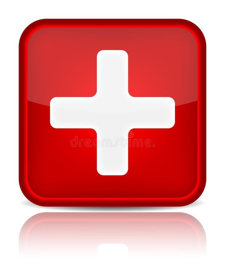 与反映isol的急救医疗按钮符号 皇族释放例证