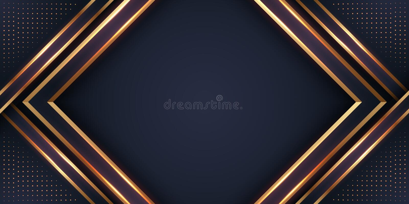 与发光一个的组合的豪华黑背景金黄与3D样式 抽象黑与发光的papercut织地不很细背景 皇族释放例证