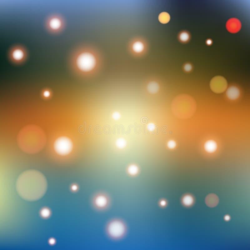 与发光的元素的迷离抽象几何背景 向量例证