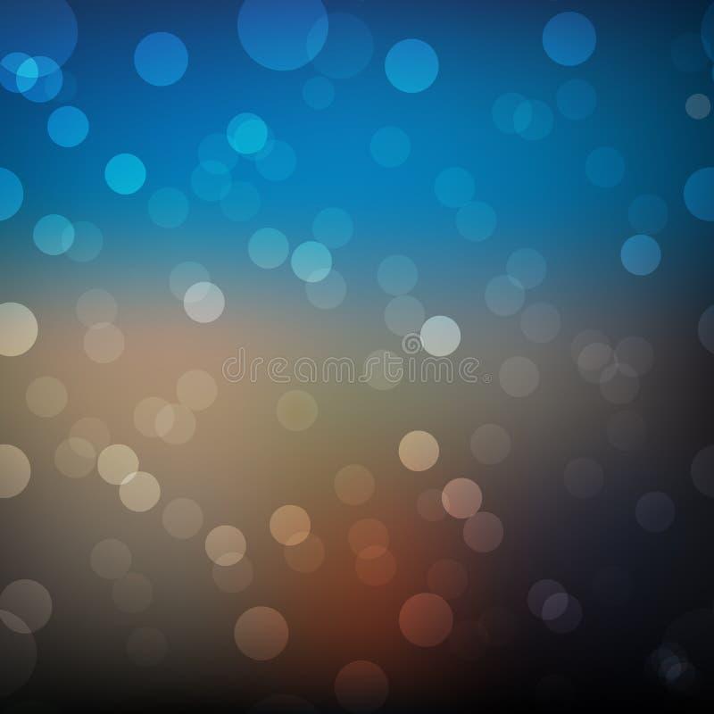 与发光的元素的迷离抽象几何背景 库存例证